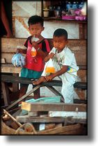 Photographs of the children of Jakarta Indonesia