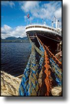 Picture of cruise ship dock lines